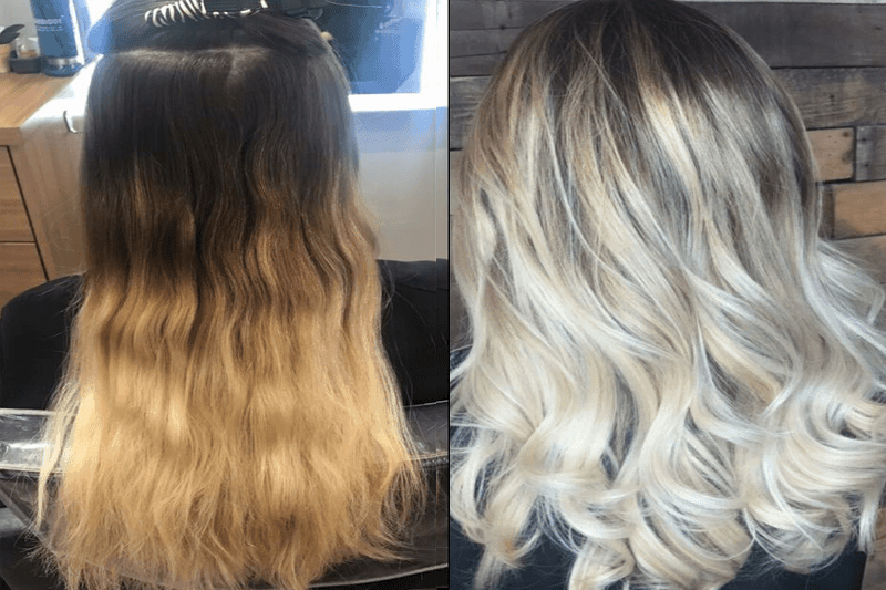 balayage boca raton -before-after